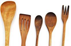 Cutelaria de madeira Imagem de Stock