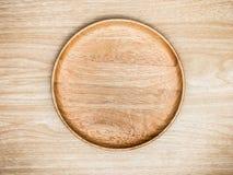 Cutelaria de madeira no fundo de madeira Vista superior Fotos de Stock