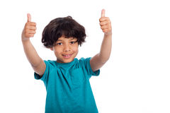 CuteMixed Race Boy with Thumbs Up Stock Photos