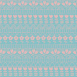 Cutepatternonblue Royalty Free Stock Images
