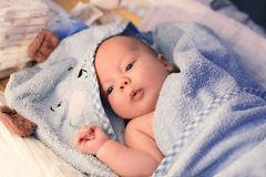 Cutest baby child after bath Royalty Free Stock Images