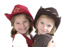 Cutest little cowgirls stock photo