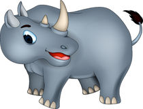 Cutev rhino cartoon Royalty Free Stock Photography
