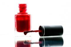 Cutex rosso Fotografia Stock