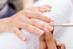 Cuticle care Royalty Free Stock Image