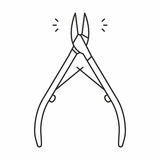 Cuticle nipper icon Royalty Free Stock Photo