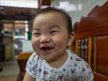 Cutie и красивый азиатский младенец или младенец мальчика стоковая фотография