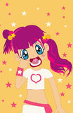 Cutie. Very cute girl with big smile Royalty Free Illustration