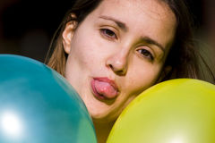 Cutie with balloons Royalty Free Stock Images