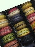 Macaroon for weekend. Cutie colorful macaroons also a good choice for weekend or holiday snacks Royalty Free Stock Image