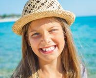 Cutie dziewczyna w kapeluszu zdjęcie royalty free