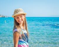 Cutie dziewczyna w kapeluszu Obrazy Royalty Free