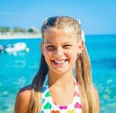 Cutie flicka i hatt Fotografering för Bildbyråer
