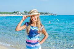 Cutie girl in hat Royalty Free Stock Photography