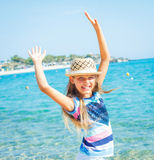 Cutie girl in hat Royalty Free Stock Images