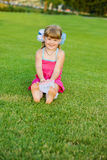 Cutie on the grass Stock Photos