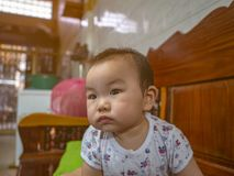 Cutie handsome asian Boy baby royalty free stock images