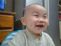 Cutie and handsome asian boy baby or infant royalty free stock photos