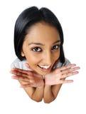 Cutie indiano su bianco fotografia stock