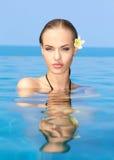 Cutie na piscina Fotos de Stock Royalty Free