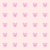 Cutie pig and folding ear with pink background. tile background. vector. illustration. basic Red Green Blue. Royalty Free Stock Image