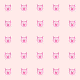 Cutie pig with pink background. tile background. vector. illustration. basic Red Green Blue. Royalty Free Stock Images