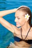 Cutie in the swiming pool Stock Photo