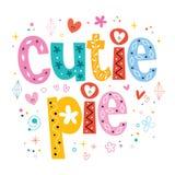 Cutie-Torte Stockbild