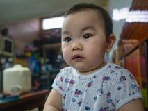 Cutie y muchacho asiático gordo fotografía de archivo libre de regalías