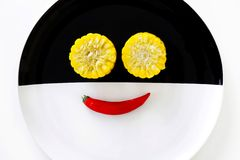 Cuties kukurudze i uśmiechu chili Zdjęcia Stock