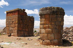 cutimbo inka jeziorny Peru rujnuje titicaca Fotografia Stock