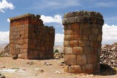 cutimboincalaken peru fördärvar titicaca arkivbild