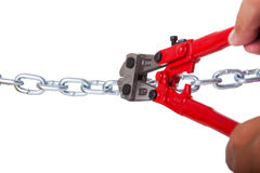 Cuting the chain Royalty Free Stock Photo
