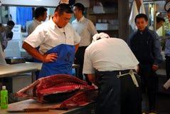 Cuting fish Royalty Free Stock Photos