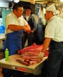 Cuting fish Royalty Free Stock Photo