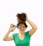 Cuting hair Royalty Free Stock Photo
