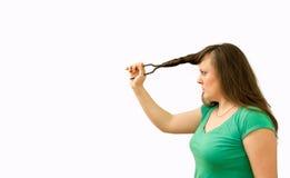 Cuting hair Stock Photography