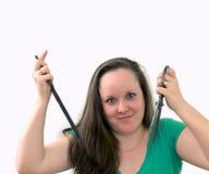 Cuting hair Royalty Free Stock Photography