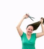 Cuting hair Royalty Free Stock Images