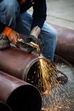 Cuting pipe Stock Photo