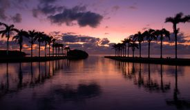 Cutler Bay Sunrise. Early March morning and sunrise at Cutler Bay near Miami, Florida Stock Photos