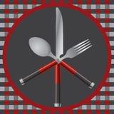 Cutlery и плита Стоковое Фото