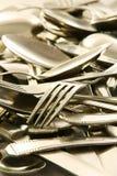 cutlery комка старый стоковые фотографии rf