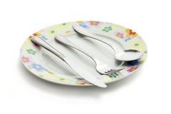 cutlery металлопластинчатый Стоковое фото RF