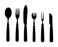 Cutlery. An image of an old vintage cutlery Royalty Free Stock Photos