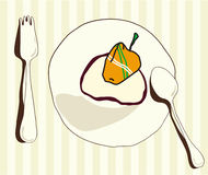 Cutlery. A silhouette of a place setting Royalty Free Stock Photos