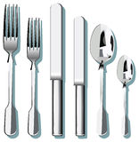 Cutlery. A set of Vector cutlery Royalty Free Stock Photos
