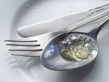 Cutlery. Wasing up Royalty Free Stock Image