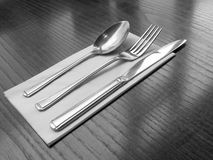 Cutlery. On a table top Stock Images