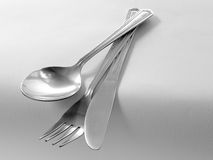 Cutlery. On a table Stock Photography